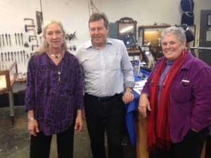 Instructors at HVS: Raychel Wengenroth, William Greenwood, Lissa Queeney