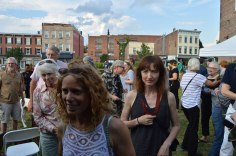 Broadway Commons was full of enthusiastic people! – Photo by Gloria Waslyn