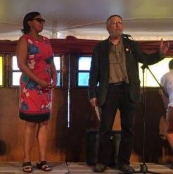 Nina Dawson, Ward 4 Alderwoman, and Richard Frumess, President of MAD Board – Photo by Gloria Waslyn