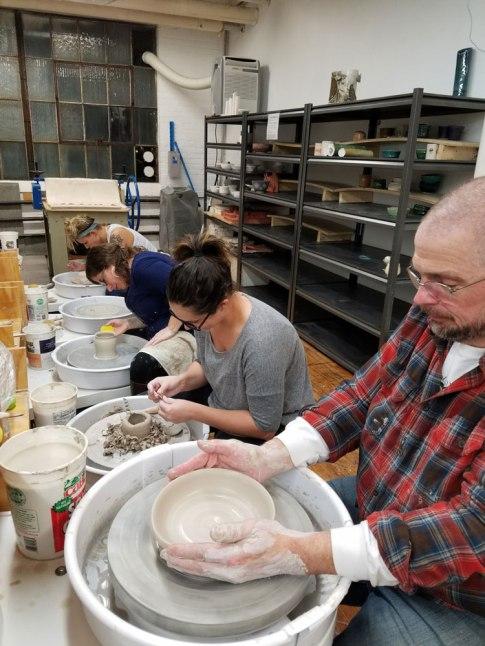 Kingston-Ceramic-Studio-Wheel-Students